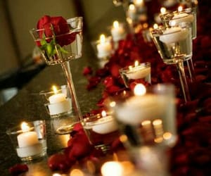 candle light, wedding ideas, and reception image