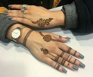 accessories, henna, and mehndi image