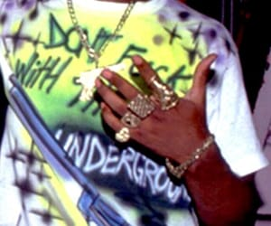 2pac, 90s, and jewelry image