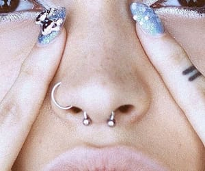 piercing, nails, and septum image