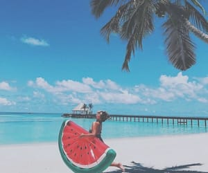 beach, summer, and watermelon image