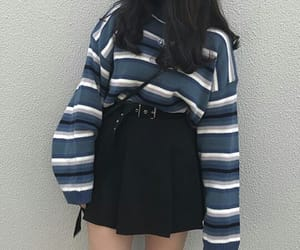 asian, black skirt, and clothes image