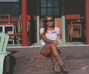 cowboy boots, girl, and portrait image