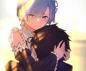 anime, couple, and rem image