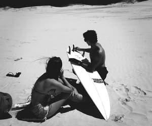 aesthetic, black and white, and coast image