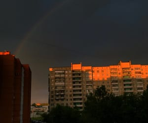 evening, rainbow, and walls image