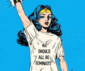 blue, color, and feminist image