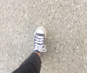 converse, high tops, and jeans image