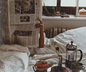 bed, breakfast, and vintage image