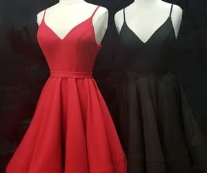 red, red wedding, and black dresses image