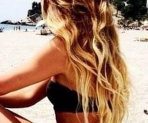 beach, coiffure, and ete image