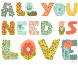 love, flowers, and song image