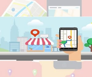 ads in smartphones, geofencing services, and geo advertising image