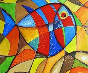 colores, pez, and abstracto image