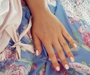 beige, flowers, and nails image
