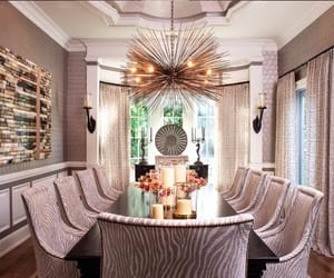 chic, dining room, and home image