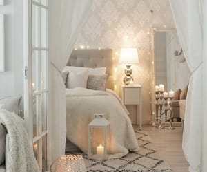 bedroom, white, and candle image