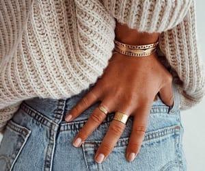 bracelet, denim, and fashion image