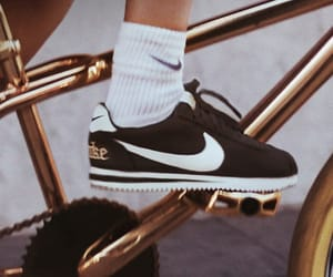 gold, nike, and style image
