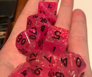 pink sparkle, pink aesthetic, and dice set image