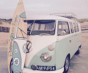 beach, summer, and surfboard image