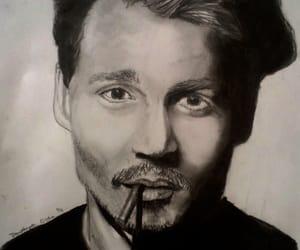 drawing, fell in love, and johhny depp image
