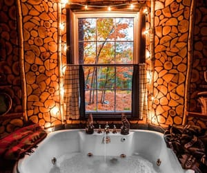 autumn, fall, and bathroom image