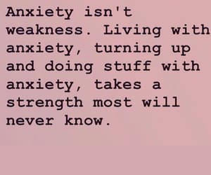 anxiety, pink, and quotes image