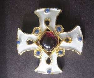 etsy, vintagevoguetreasure, and cross jewelry image