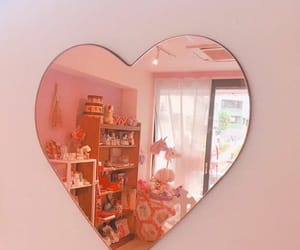 heart, peach, and pink image