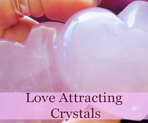 crystals, heart, and pastel pink image