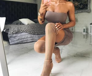 beauty, high heels, and pink image
