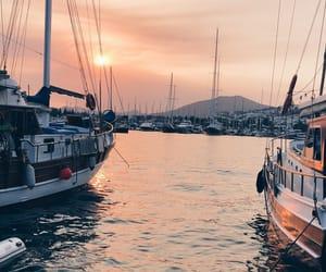 boats, marina, and ocean image