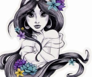 disney princess, jasmine, and art image