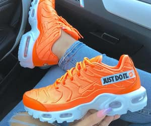 sneakers, nike, and orange image