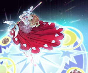 anime, card captor sakura, and red dress image