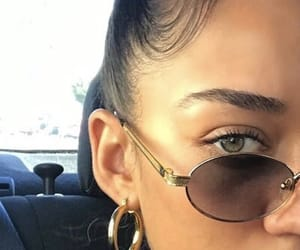glasses, eyes, and jewelry image