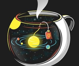 background, galaxy, and tea image