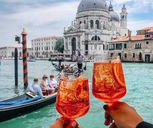 italy, drinks, and venice image