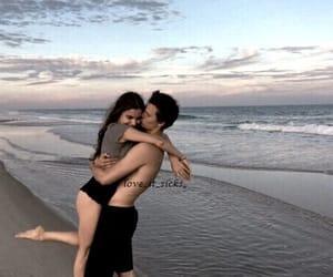 beach, boys, and kiss image
