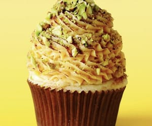 creamy, frosting, and cupcake image