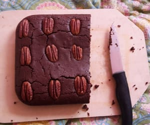 brownie, cake, and pecan nuts image