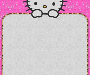 background, hello kitty, and pink image