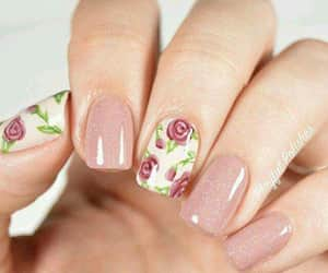 nails, flowers, and manicure image