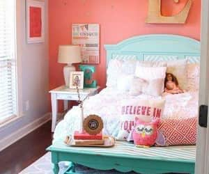 bed, lamps, and room decorations image