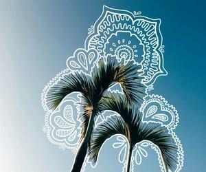 art, sky, and tropical image