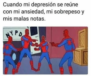 anxiety, depression, and hombre araña image