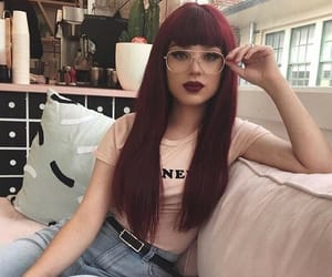color hair, longhair, and glasses image