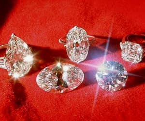 diamonds, red, and aesthetic image