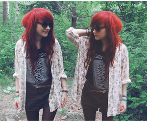 girl, red hair, and hair image